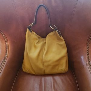 Leather Lucky brand hobo bag